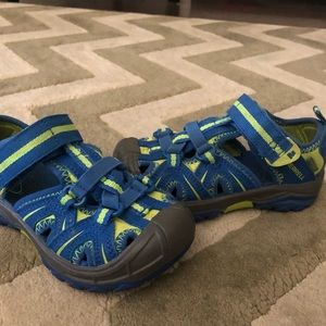 Merrell Shoes - Boys blue and neon Merrell water shoes/sandals